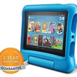 """Fire 7 Kids Tablet, 7"""" Display, ages 3-7, 16 GB, Pink Kid-Proof Case 