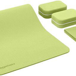 Amazon Basics 1/4-Inch Thick TPE Yoga Mat 6 Piece Set | Amazon (US)