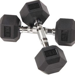 Sporzon! Rubber Encased Hex Dumbbell in Pairs or Singles | Amazon (US)