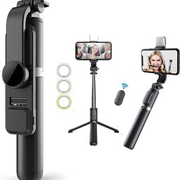 Selfie Stick & Phone Tripod,MQOUNY Portable Selfie Fill Light,Portable All-in-One Professional Tr...   Amazon (US)