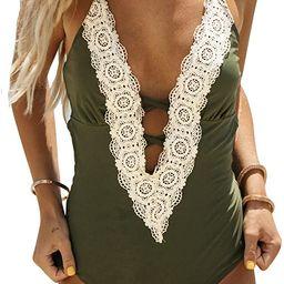 CUPSHE Fashion Women's Ladies Vintage Lace Bikini Sets Beach Swimwear Bathing Suit | Amazon (US)