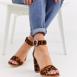 RAID Exclusive Fleur leopard heeled sandals-Multi | ASOS (Global)