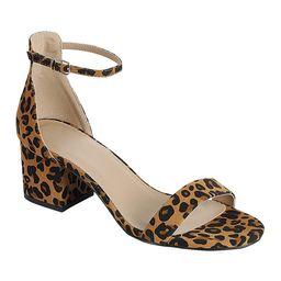 moca Women's Sandals LEOPARD - Leopard Stuart Low-Heeled Sandal - Women | Zulily