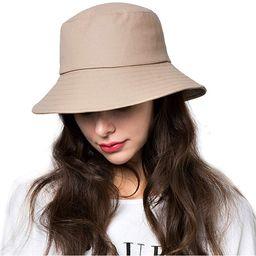 Bucket Hats for Women Sun Beach Hat Teens Girls Wide Brim Summer Fisherman's Caps UPF 50+ | Amazon (US)