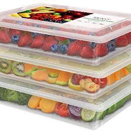 Refrigerator Organizer Bins Produce Saver - 2.5L x 3 SILIVO Fridge Storage Containers with Remova... | Amazon (US)
