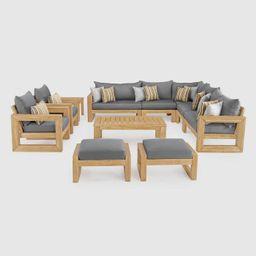 Benson 11pc SolarFast Patio Seating Set  - RST Brands   Target