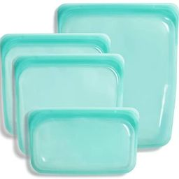 Stasher Platinum Silicone Food Grade Reusable Storage Bag, Aqua (Bundle 4-Pack Small)   Reduce Si...   Amazon (US)