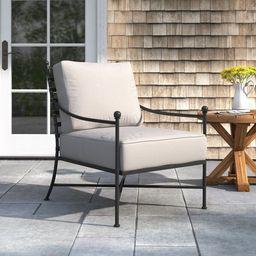 Lucier Patio Chair with Sunbrella Cushions   Wayfair Professional