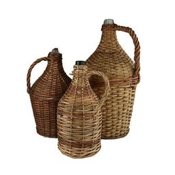 Antique French Wicker Wine Demijohn Jug  French Jug   European Vintage Jar   Etsy (US)
