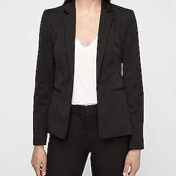 Notch Collar Kiss Front Cropped Business Blazer Black Women's 10 | Express