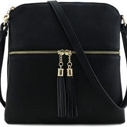 Tassel Zip Pocket Crossbody Bag | Amazon (US)