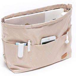 iN. Purse Organizer Insert with zipper Nylon fabric for women Handbags & Totebag | Amazon (US)