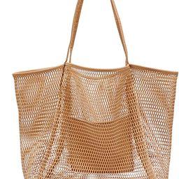 Mesh Beach Tote Womens Shoulder Handbag | Amazon (US)