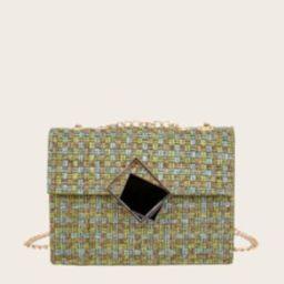 Tweed Flap Chain Bag | SHEIN