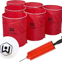 Wicked Big Sports Supersized Pong Outdoor/Indoor Sport Tailgate Games, 6 Cups, Multi (965)   Amazon (US)