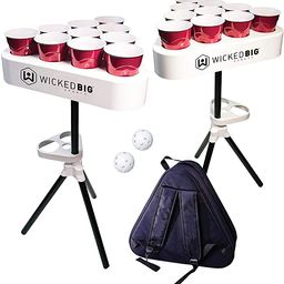 Versapong Portable Beer Pong Table / Tailgate Game with Backpack Carry Case and Balls   Amazon (US)