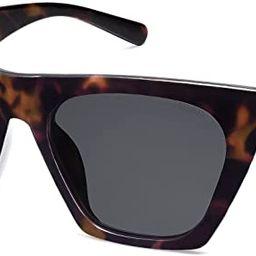 SOJOS Vintage Cateye Polarized Women Sunglasses Trendy Oversized Frame SJ2115 | Amazon (US)