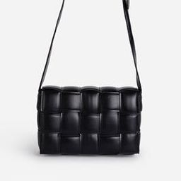 Mae Quilted Cross Body Bag In Black Faux Leather   EGO Shoes (US & Canada)