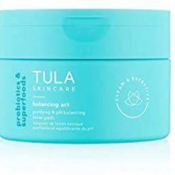 TULA Skin Care Balancing Act Purifying & pH Balancing Toner Pads | Gentle, Alcohol Free, Refreshi... | Amazon (US)