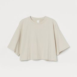 H & M - Crop T-shirt - Beige   H&M (US)