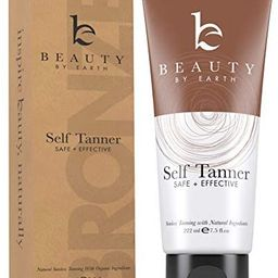 Self Tanner - With Organic Aloe Vera & Shea Butter, Sunless Tanning Lotion and Bronzer Buildable ... | Amazon (US)