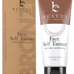 Self Tanner for Face – Face Tanner With Organic Aloe Vera & Shea Butter, Sunless Tanning Lotion... | Amazon (US)