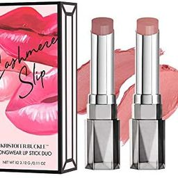 KRISTOFER BUCKLE Cashmere Slip Longwear Lipstick Duo, 0.11 oz. (each) | Creamy, Richly Pigmented ... | Amazon (US)
