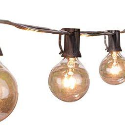 Outdoor String Lights 25 Feet G40 Globe Patio Lights with 27 Edison Glass Bulbs(2 Spare), Waterpr...   Amazon (US)