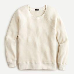 Waffle crewneck sweatshirt | J.Crew US