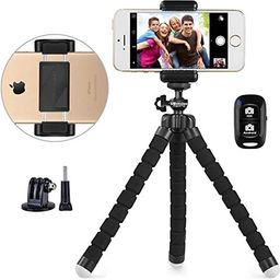 UBeesize Phone Tripod, Portable and Adjustable Camera Stand Holder with Wireless Remote and Unive...   Amazon (US)