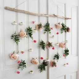 Boho Flower Wall Hanging, Eucalyptus Wall Hanging, Flower Wall Hanging, Boho Wall Hanging, Greene... | Etsy (US)