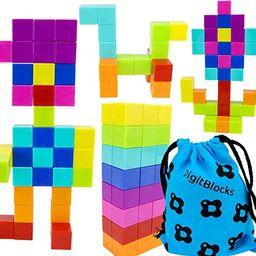 Brainspark DigitBlocks 48 Pcs Magnetic Building Blocks 8 Colors Sensory Toys for Kids STEM Educat... | Amazon (US)