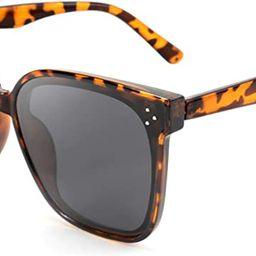 FEISEDY Retro Square Polarized Sunglasses Women Men Oversized Vintage Shades B2600   Amazon (US)