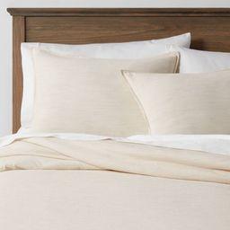 Space Dyed Cotton Linen Duvet & Sham Set - Threshold™ | Target