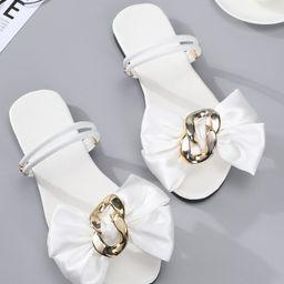 Bow Decor Two Way Wear Sandals   SHEIN