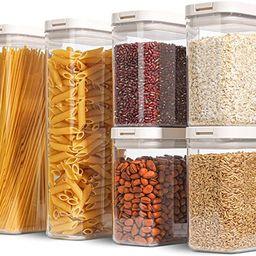 ComSaf Airtight Food Storage Container Set of 6 (61 OZ/ 27 OZ), BPA-Free Large Plastic Food Stora...   Amazon (US)