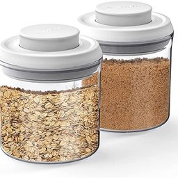 ANVAVA Airtight Food Storage Container Set - 2-Pack One Button Control Kitchen and Pantry Organiz...   Amazon (US)