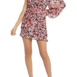Floral One-Shoulder Long Sleeve Dress   Nordstrom