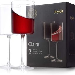 JoyJolt Red Wine Glasses – Claire Collection Set of 2 Large Wine Glasses – 14-Ounce Crystal W...   Amazon (US)