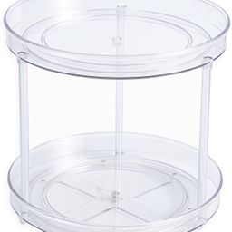 2 Tier Lazy Susan Turntable, Plastic Clear Rotating Spinning Organization, Food Storage Container...   Amazon (US)