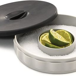 Tablecraft Glass Rimmer Set , 1 PACK, White base with black lid | Amazon (US)