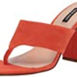 Nine West Women's Gogo Heeled Sandal, Orange Suede, 5 | Amazon (US)