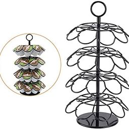 SHURFFY Coffee Pod Carousel Holder Organizer Compatible with 36 Cup Pods | Amazon (US)