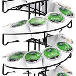 K Cup Holder Syliva,Coffee Pod Organizer Holds 35 K Cup Coffee Pods/60 Espresso Pods Storage,Spin... | Amazon (US)