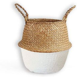 Brainy Living Hand-woven Pot-belly Basket With Natural Seagrass For Indoor Storage Of Groceries A... | Amazon (CA)