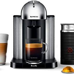 Nespresso Vertuo Coffee and Espresso Machine by Breville with Aeroccino Milk Frother- Chrome - BN... | Amazon (CA)