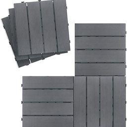 Outdoor Interlocking Flooring Tiles, Weather Resistant and Anti-Slip Patio Pavers, Outdoor Four S... | Amazon (CA)