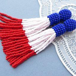 American Flag Earrings 4th of July earrings Patriotic Earrings   Etsy   Etsy (US)