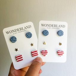 The 'MURICA Collection  Stud Pack Trio  USA Studs    Etsy   Etsy (US)