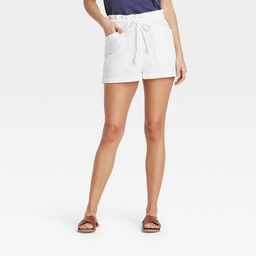 Women's Mid-Rise Tie Waist Utility Shorts - Universal Thread™ | Target